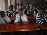 New desks for the new school classrooms in Zimbabwe