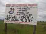 the site for the new Beulah Heights school sign