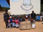 Toys arrive at the school in Zimbabwe