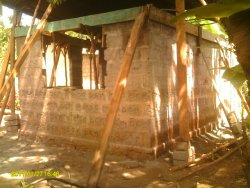 The new kitchen being built in Tanzania